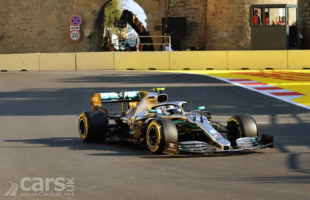 Bottas on pole in Mercedes front row at Azerbaijan Grand Prix