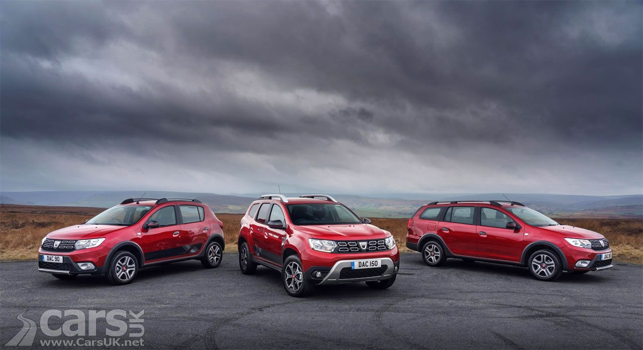 Dacia Duster, Logan MCV Stepway and Sandero Stepway Techroad