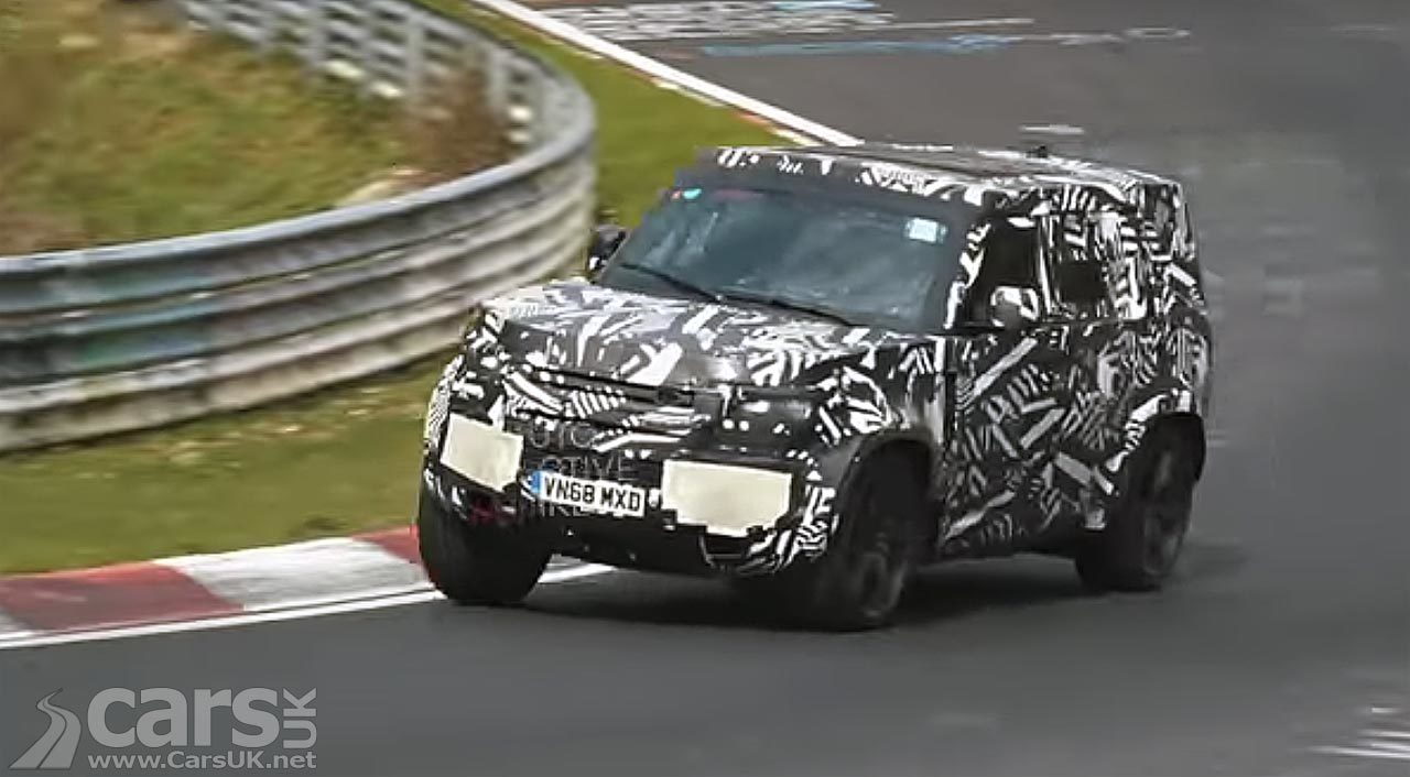 New Land Rover Defender hits the Nurburgring