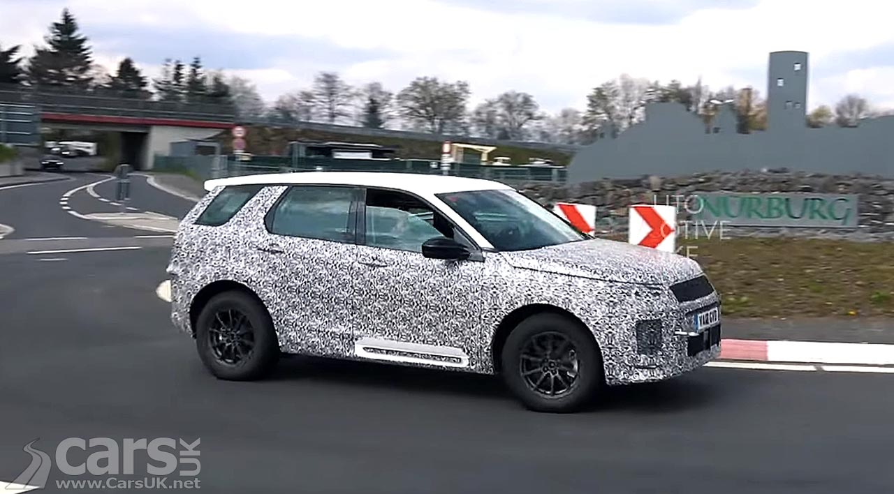 2020 Land Rover Discovery Sport testing at the Nurburgring