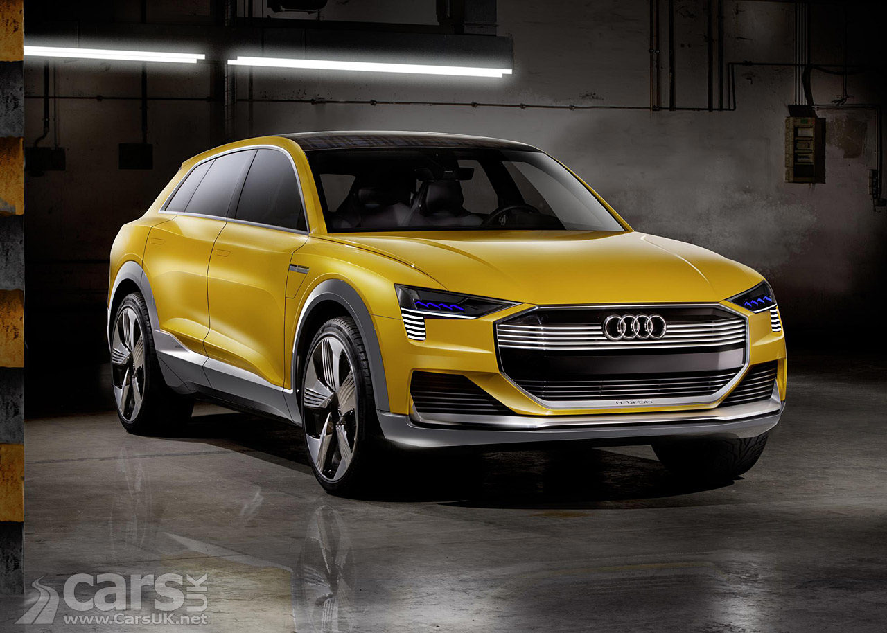 Orange hydrogen-powered Audi Concept