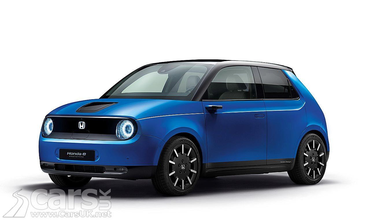 Blue Electric Honda E