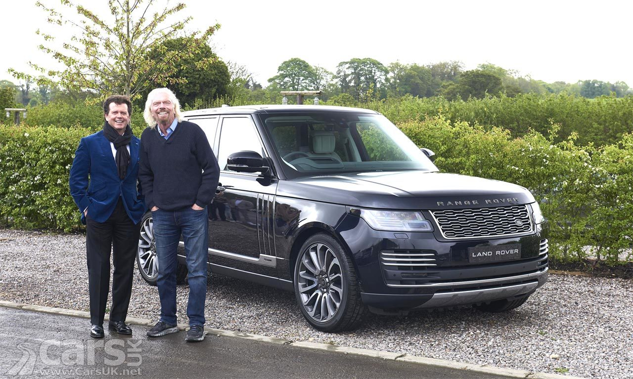 Richard Branson and Gerry McGovern with the Range Rover Astronaut Edition