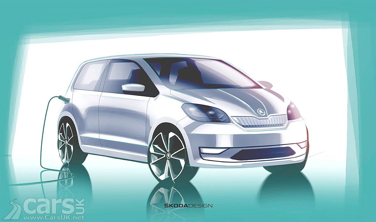 Electric Skoda Citigo-E Design Sketch
