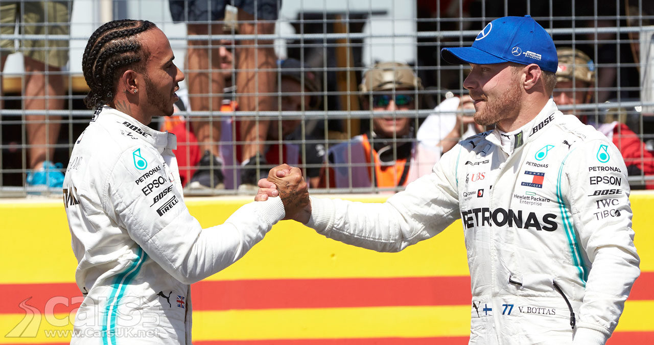 Lewis Hamilton and Valtteri Bottas 2019 French Grand Prix 1-2