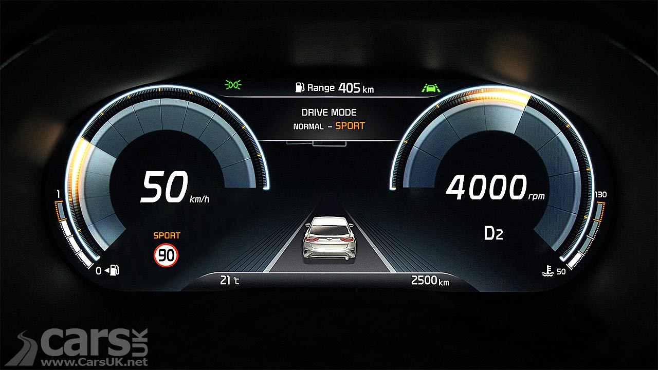 Kia reveals new digital instrument cluster for the XCeed
