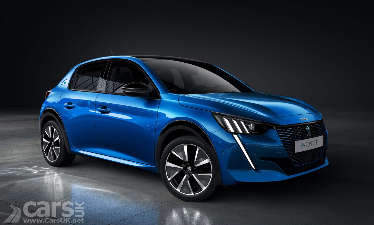 Photo of blue 2020 Peugeot e-208