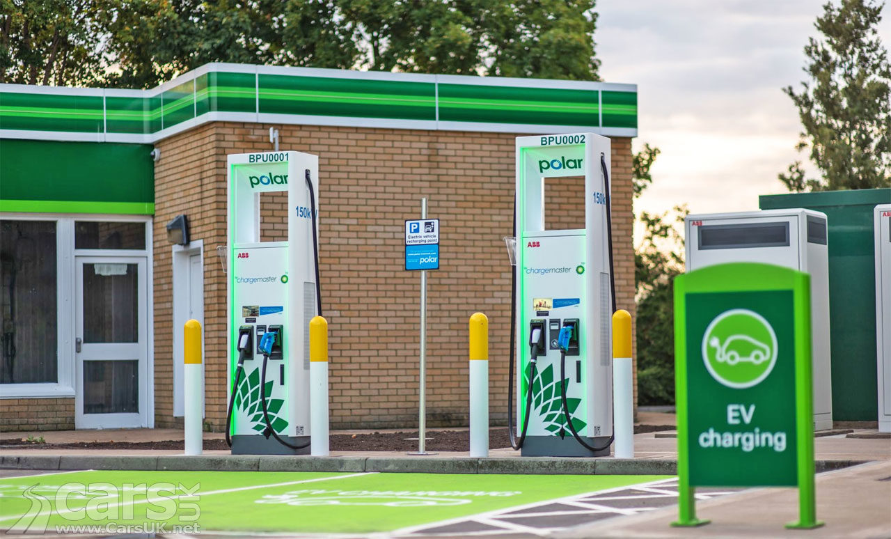 Photo of the firts BP 150kW electric car charging points