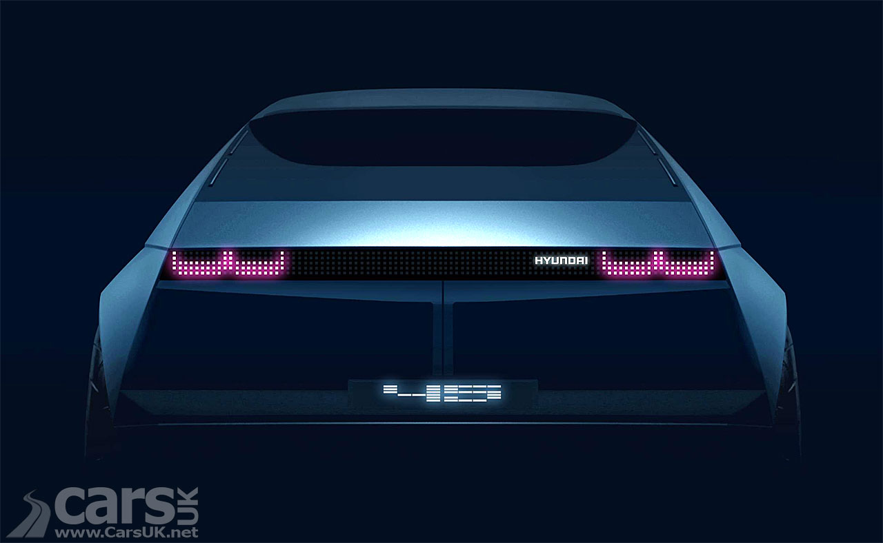 Tease phot of the back of the Hyundai 45 EV concept
