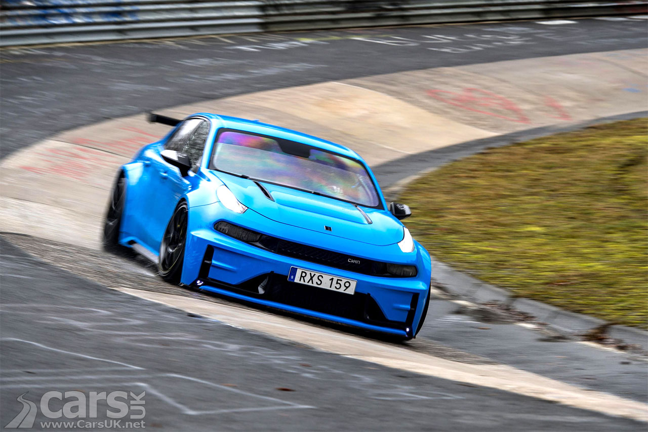 Photo of Lynk & Co 03 Cyan Concept breaking Nurburgring records