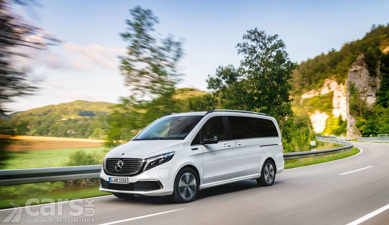 Photo new Mercedes EQV electric MPV
