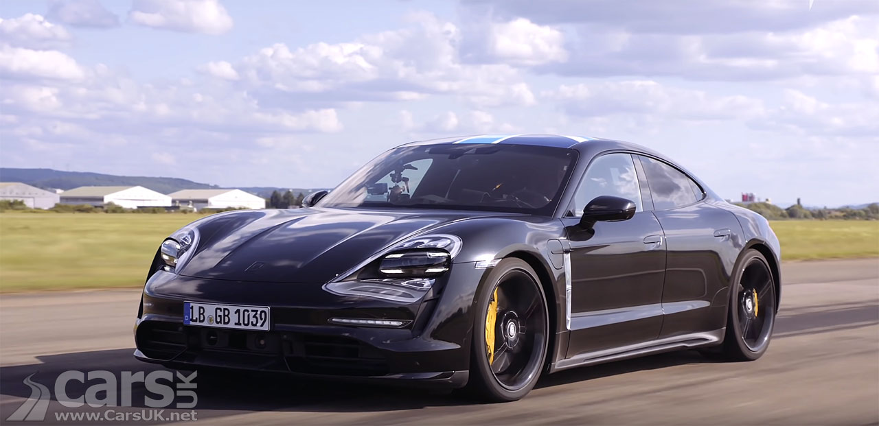 Watch the Electric Porsche Taycan accelerate to 124mph