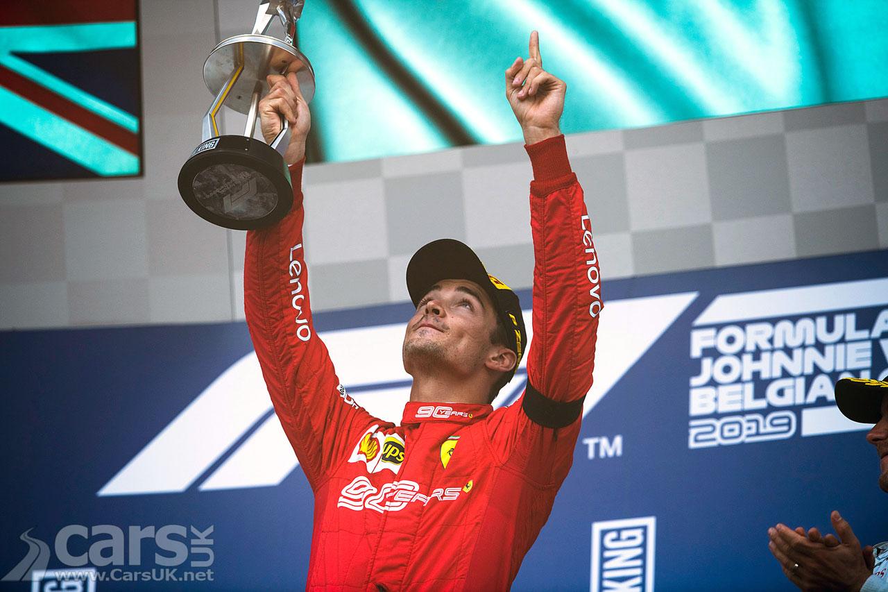 Charles Leclerc WINS the Belgian Grand Prix for Ferrari