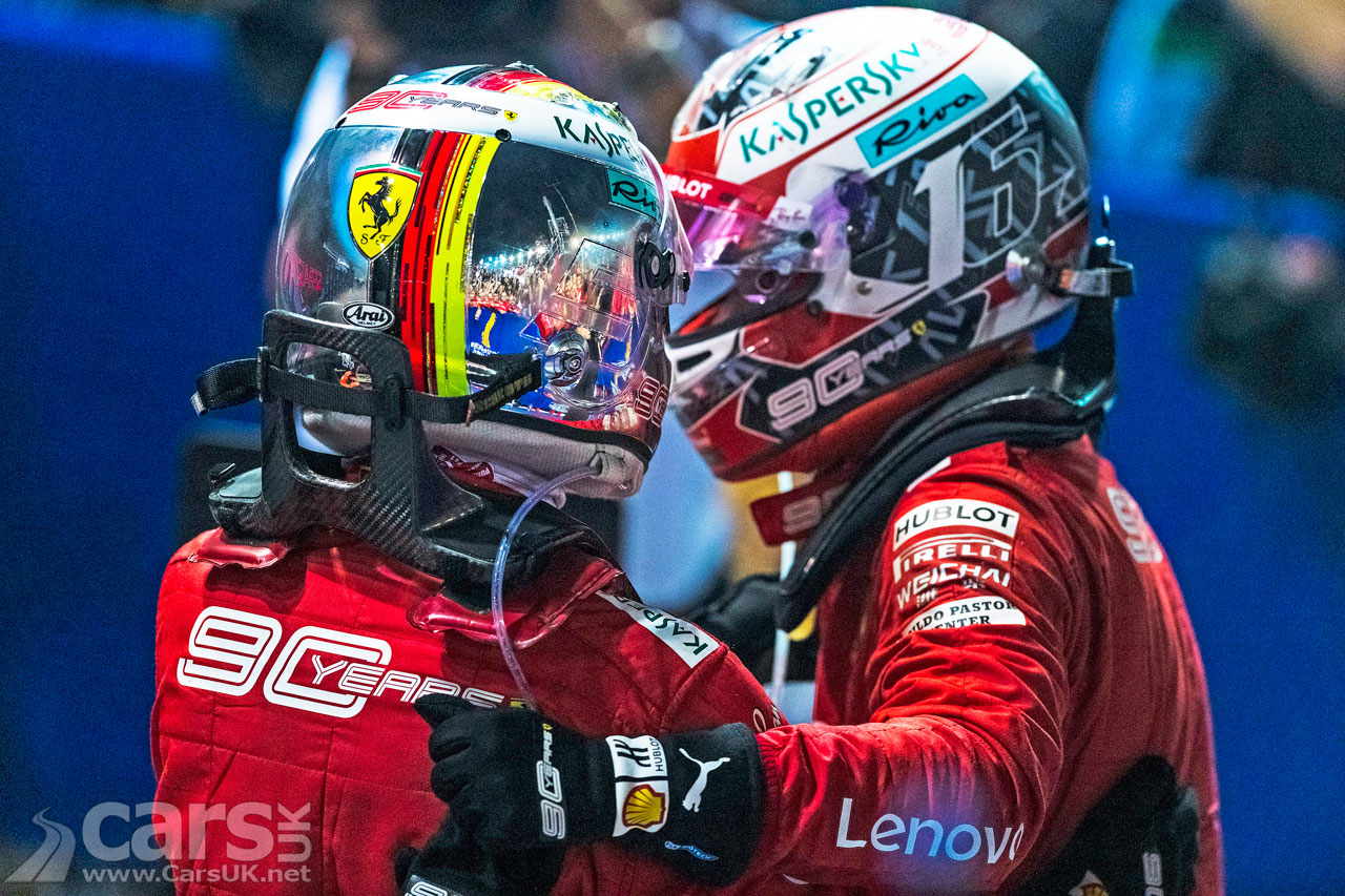 Photo Vettel and Leclerc celebrate their 1-2