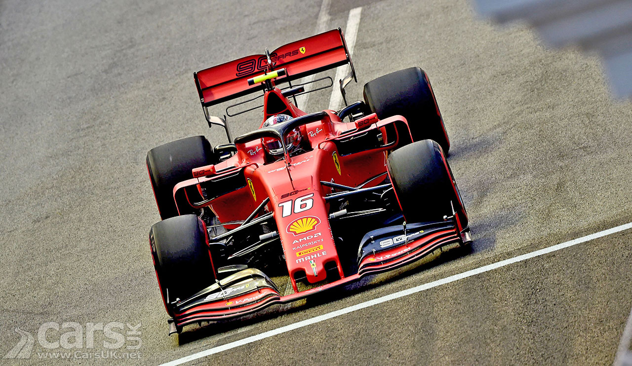Photo Charles Leclerc pole position 2019 Singapore Grand Prix