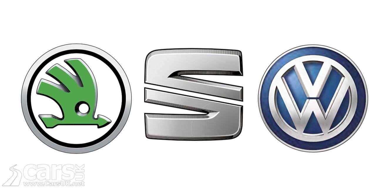 Photo Skoda, SEAT and VW logos