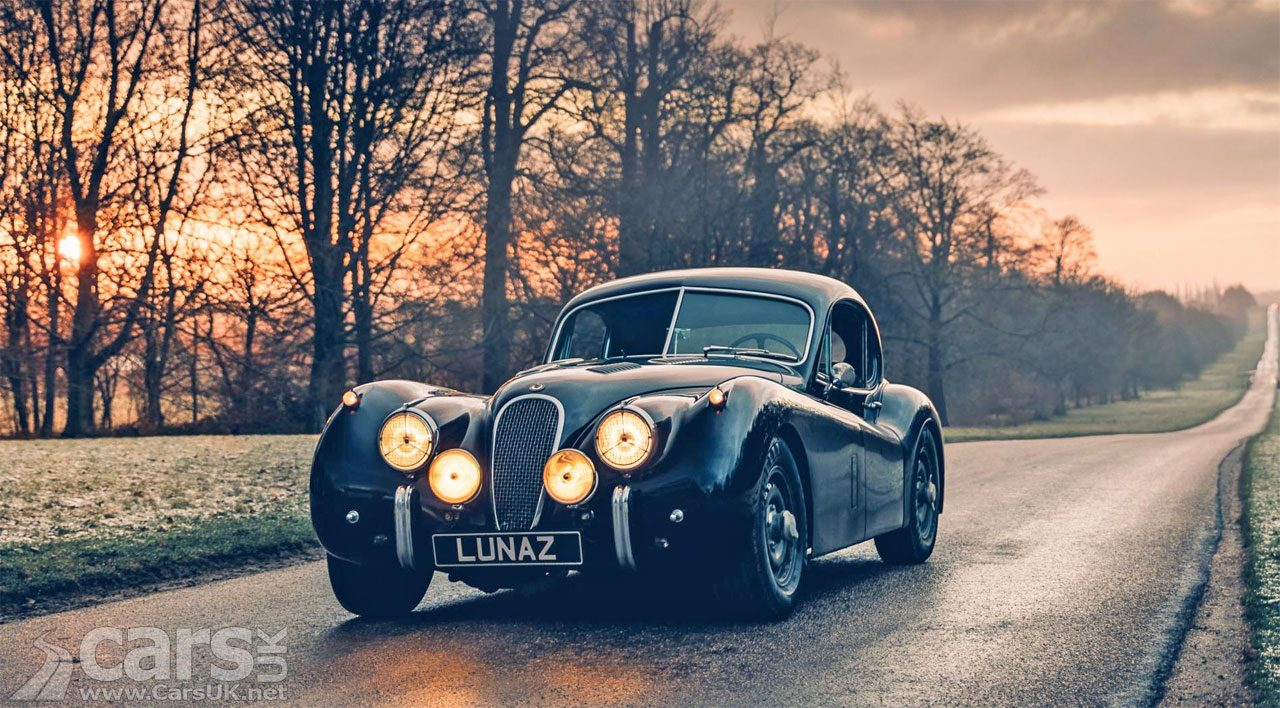 Photo electric Jaguar XK120 by Lunaz