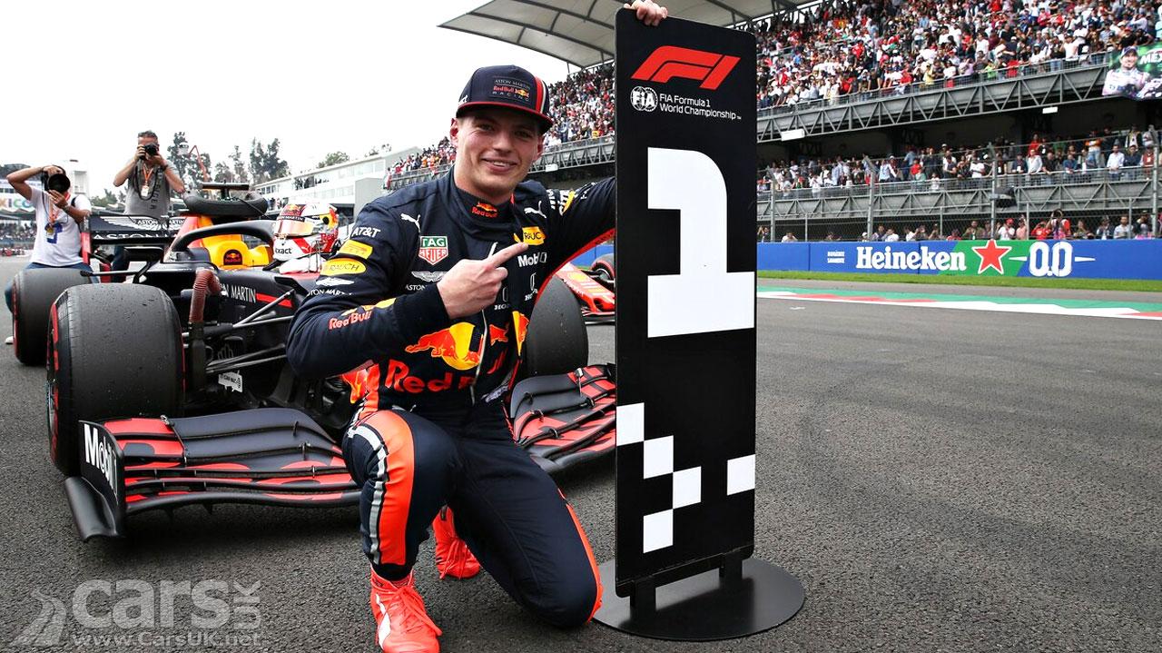 Photo Max Verstappen pole 2019 Mexican Grand Prix