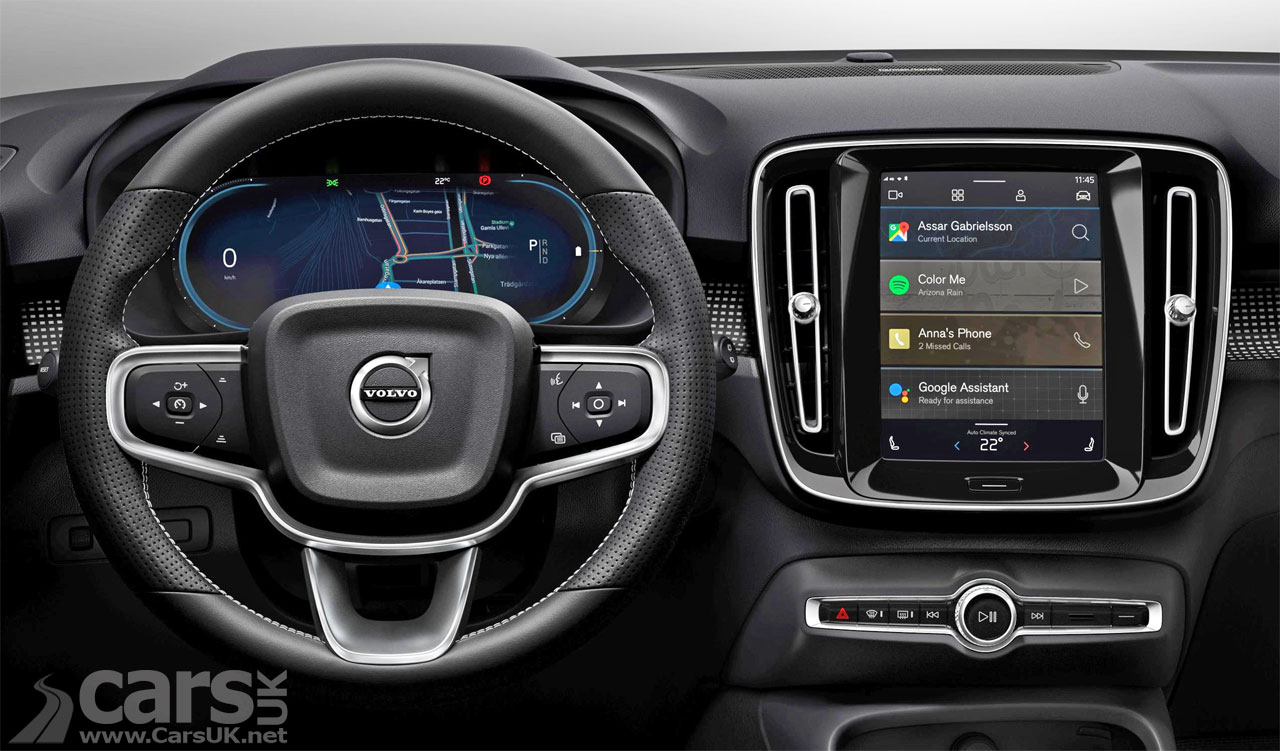 Photo of Volvo's new Android Infotainment for the electric XC40