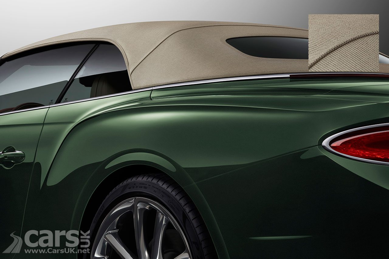 Photo Bentley Continental GT Convertible with Tweed roof