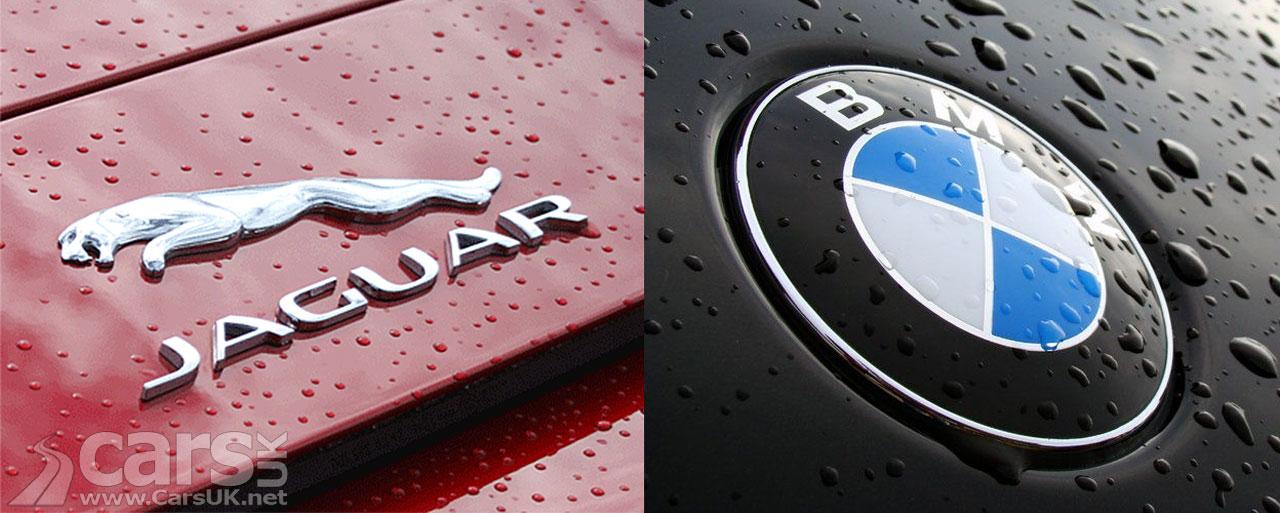 Photo Jaguar and BMW badges on car