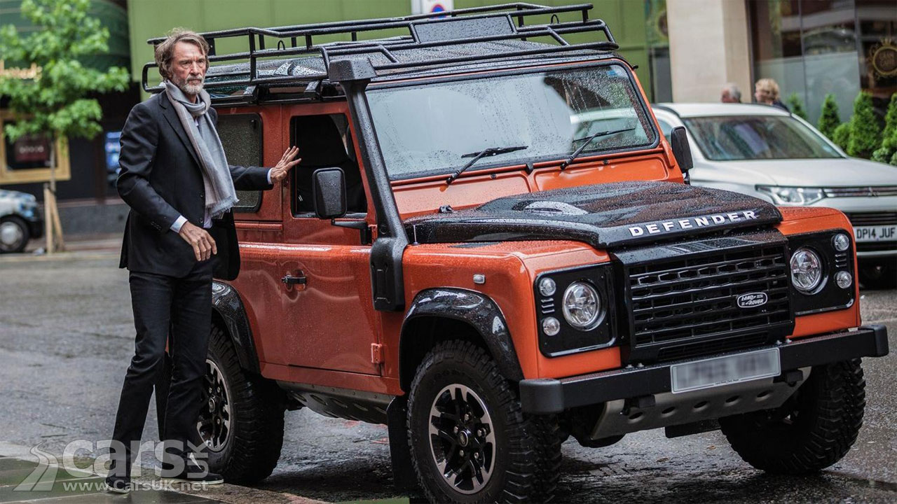 Photo Jim Ratcliffe and Land Rover Defender