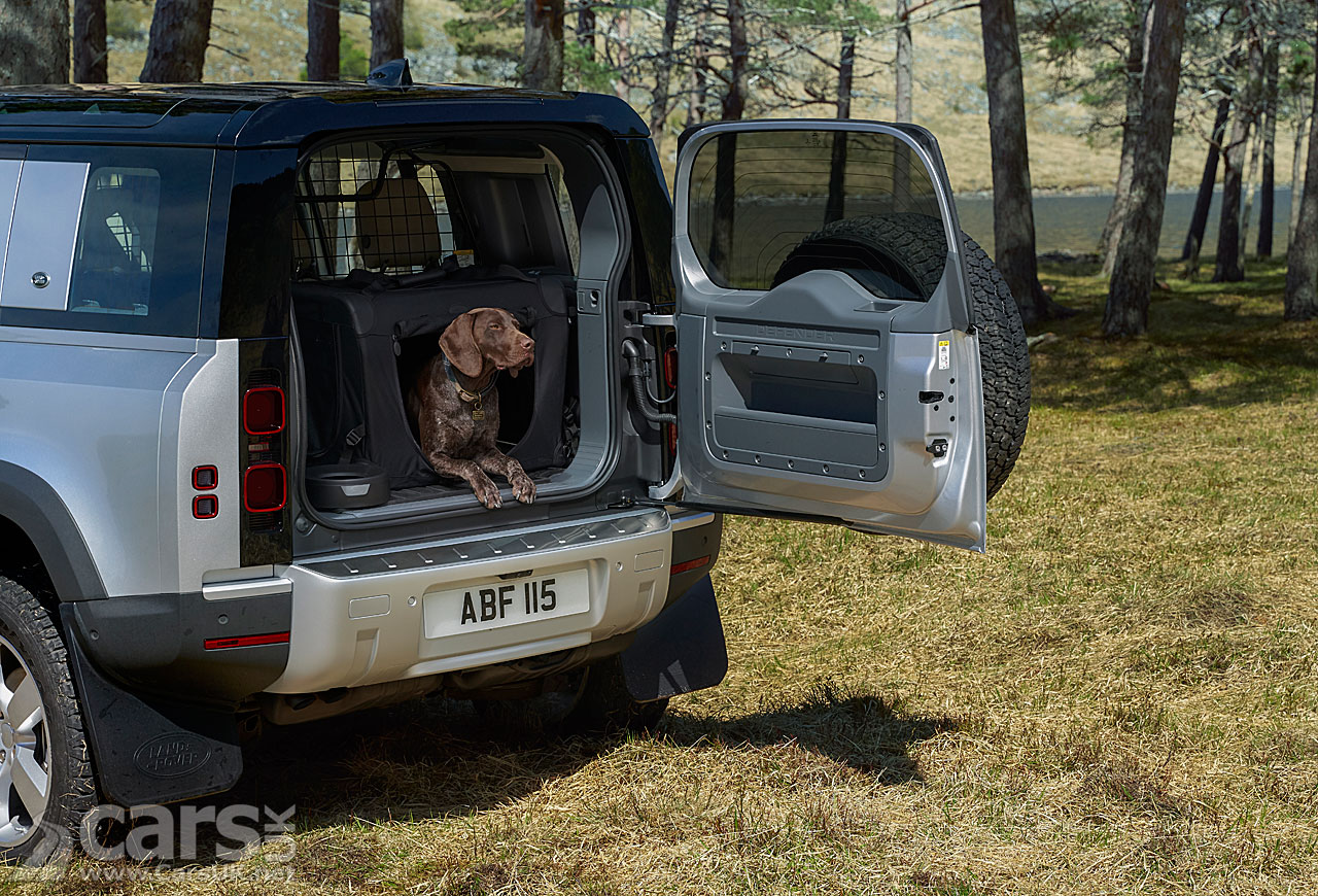 Photo New Land Rover Defender and dog
