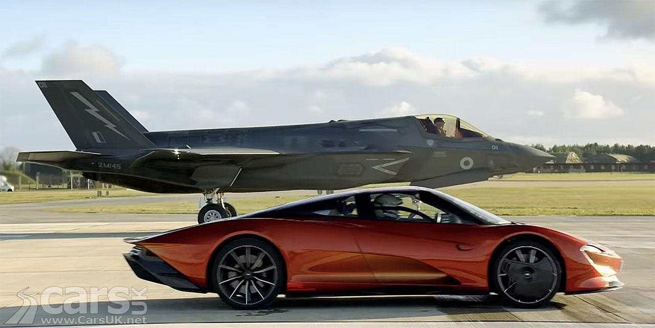 Photo McLaren Speedtail vs Fighter Jet Top Gear Series 28