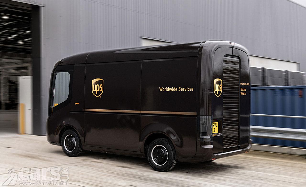 Photo UPS electric Arrival van