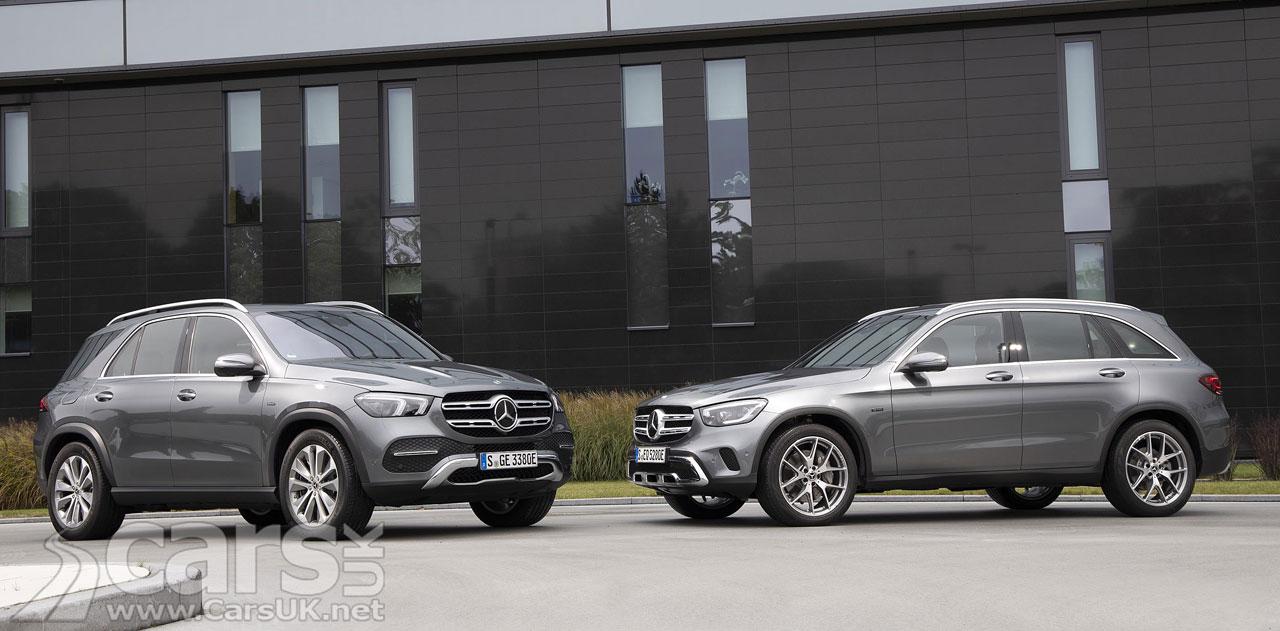 Photo Mercedes GLC 300 e and GLE 350 de plug-in hybrids
