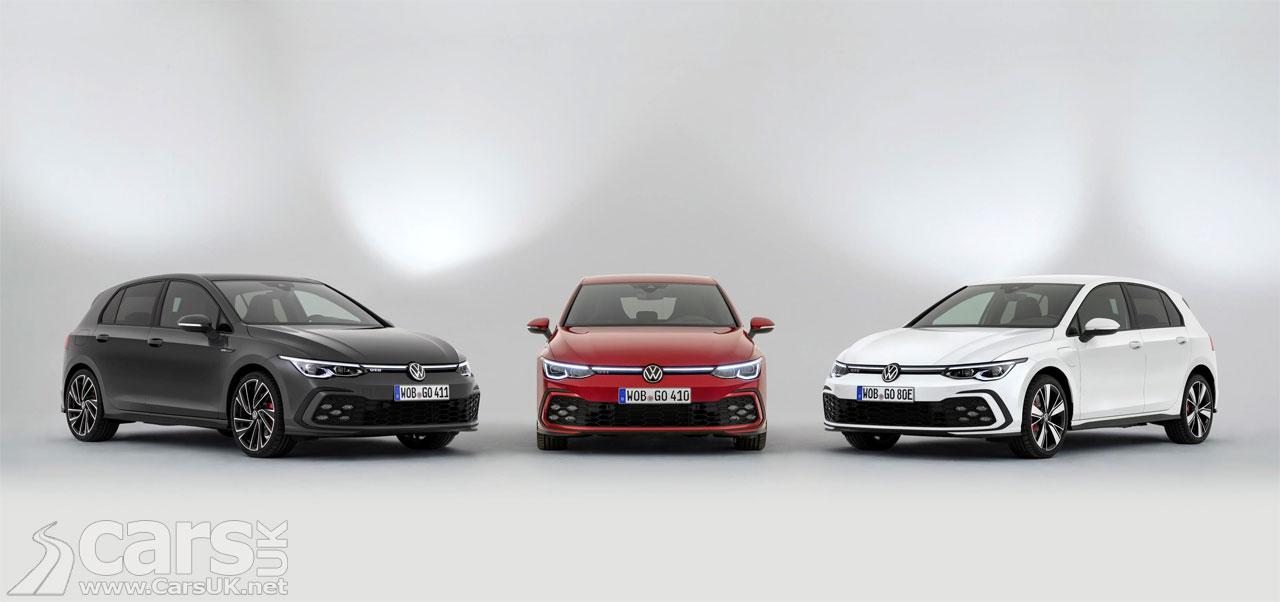 Photo New Mk8 Volkswagen Golf GTI, GTD and GTE