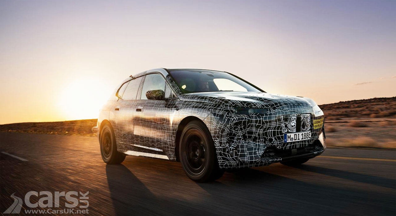 Photo BMW iNext electric SUV hot weather testing