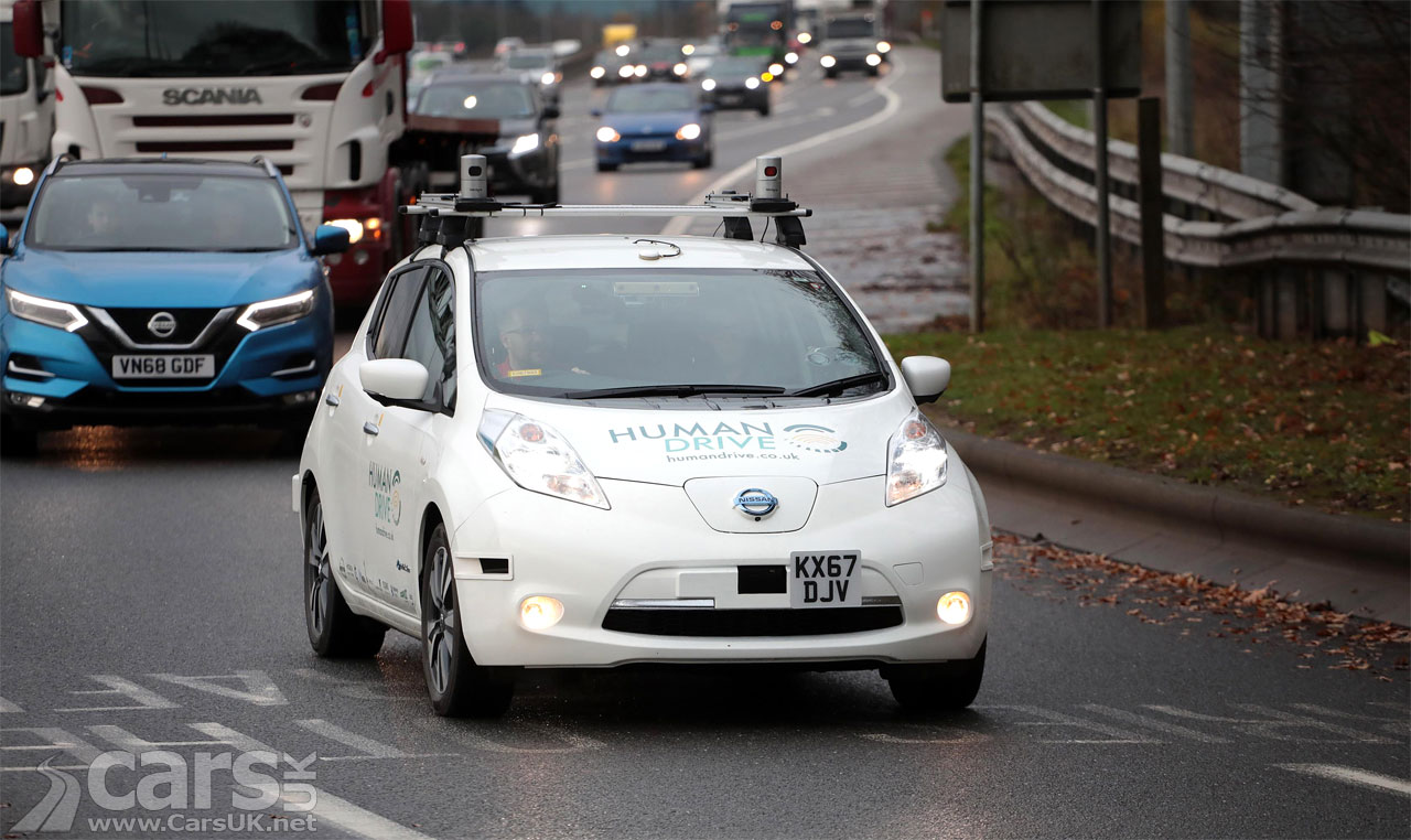 Photo Nissan LEAF driving itself from Bedfordshire to Sunderland