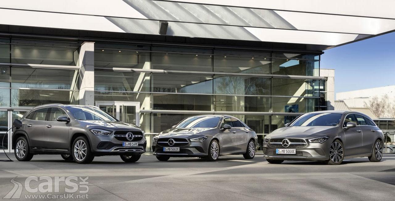 Photo Mercedes GLA, CLA and CLA Shooting Brake plug-in Hybrids