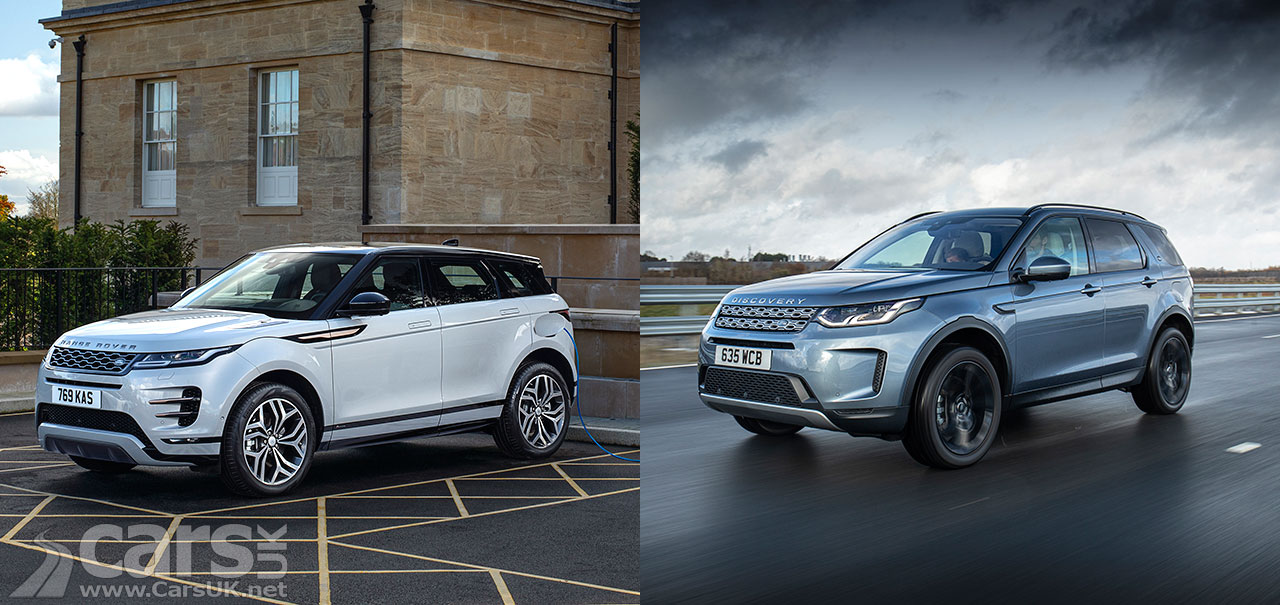 Photo Range Rover Evoque and Land Rover Discovery Sport plug-in Hybrids