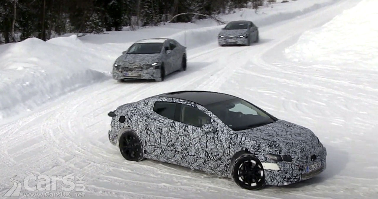 Photo electric Mercedes EQE Winter Testing