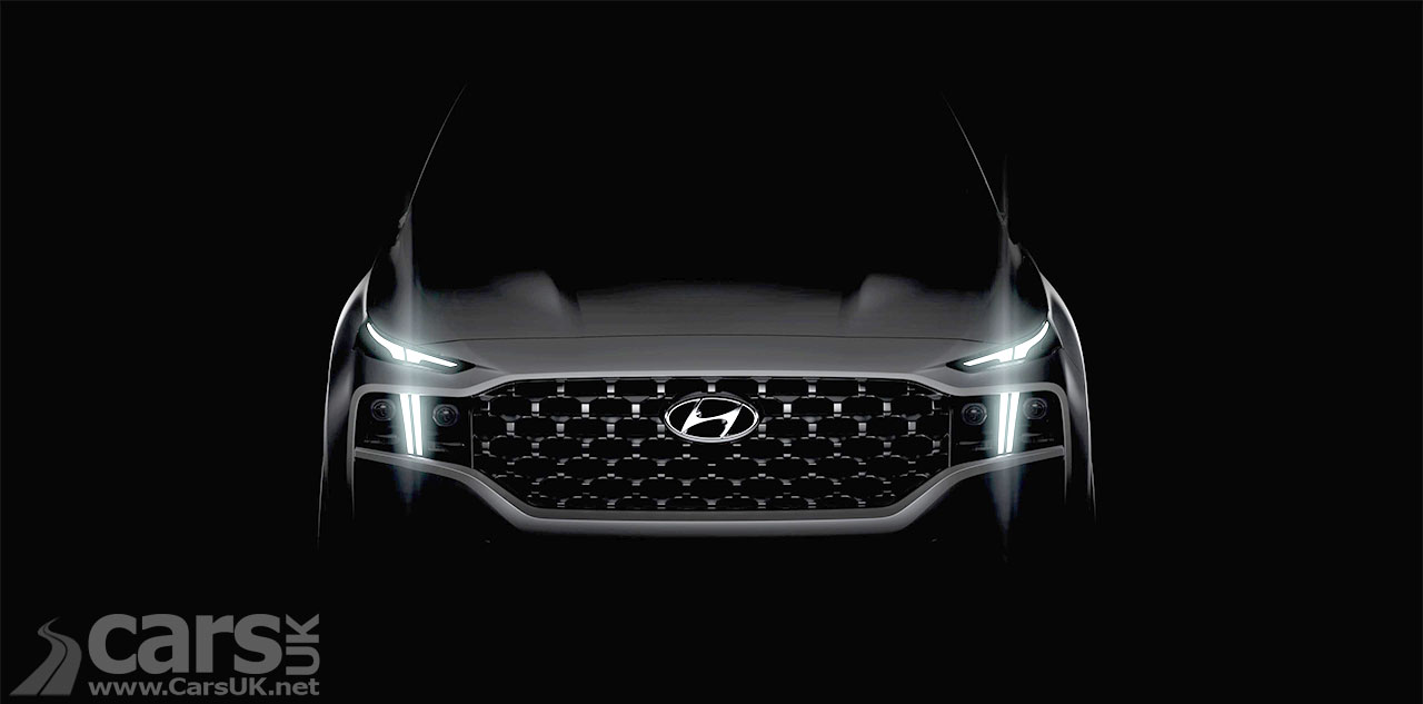 Photo Hyundai Santa Fe teaser ahead of a facelift