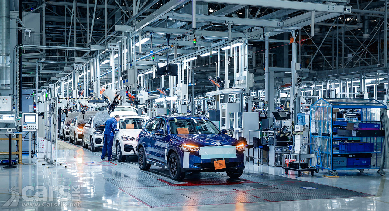 Photo electric BMW iX3 production
