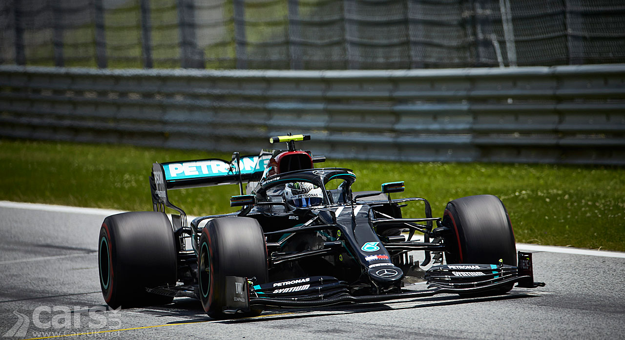 Austrian Grand Prix Qualifying Bottas Takes Pole In Mercedes Front Row Cars Uk
