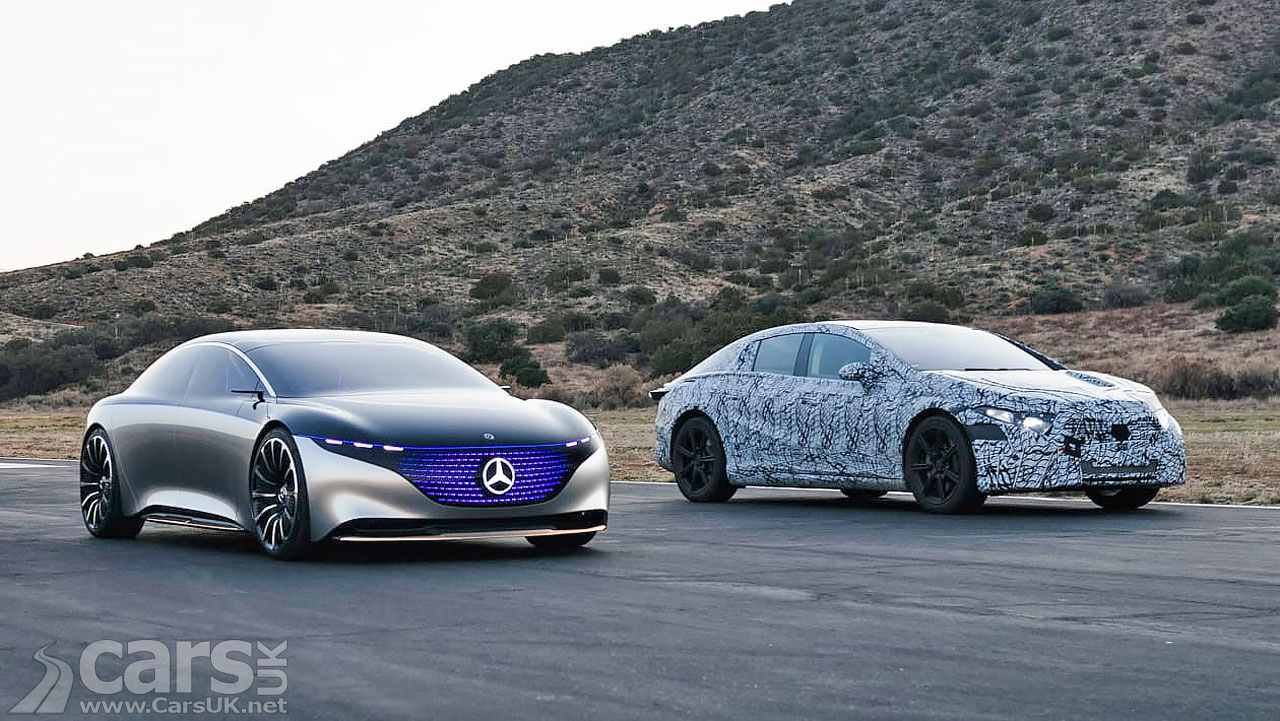 Photo Mercedes EQS and Concept
