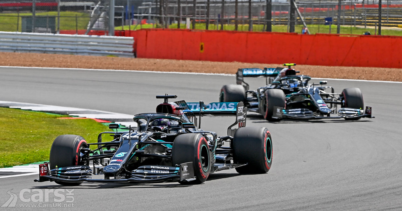 Photo Hamilton and Bottas Qualifying 2020 British Grand Prix