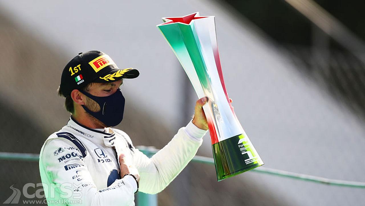 Photo Pierre Gasly WINS the Italian Grand Prix for Alpha Tauri