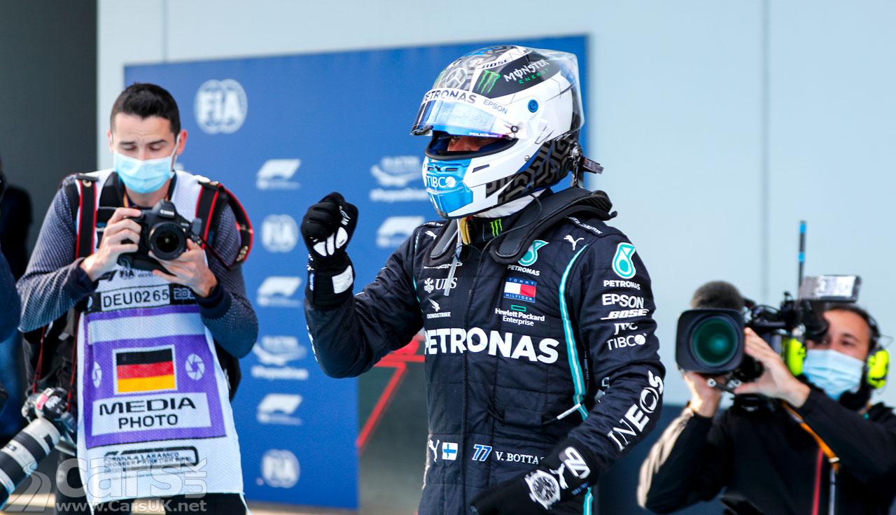 Photo Valtteri Bottas on pole for Eifel Grand Prix