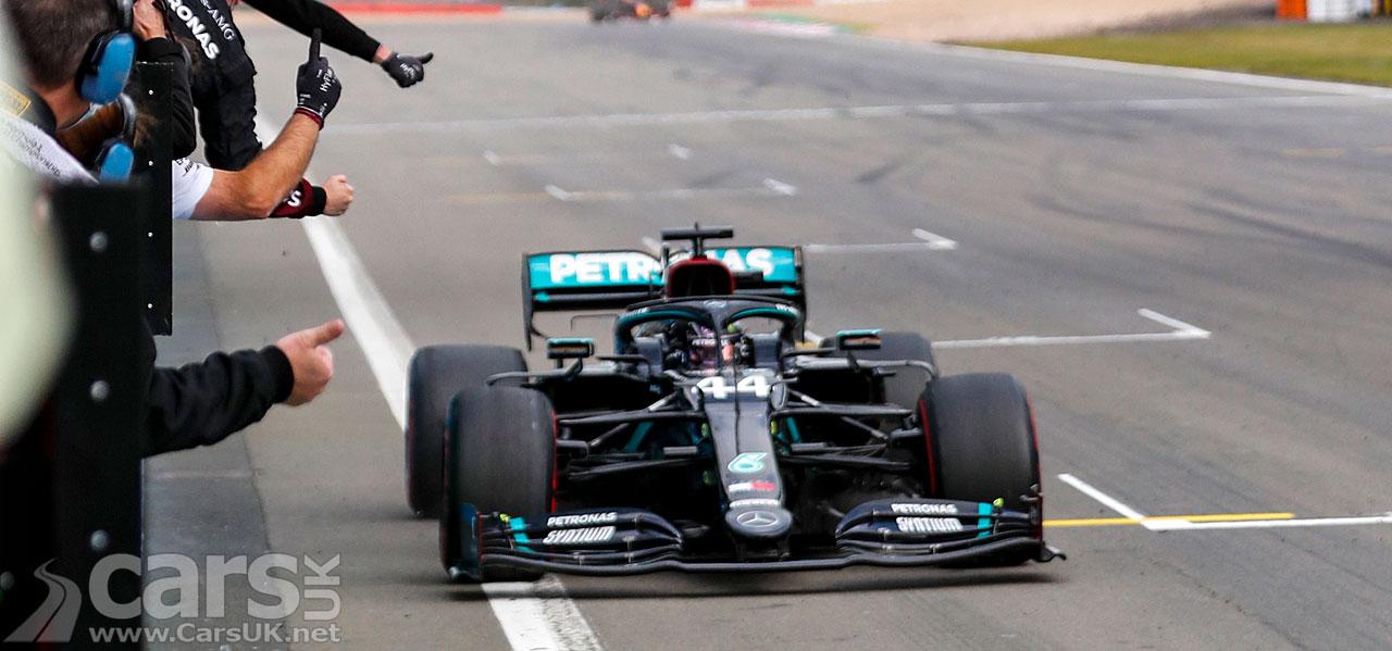 Photo Lewis Hamilton winning the Eifel Grand Prix
