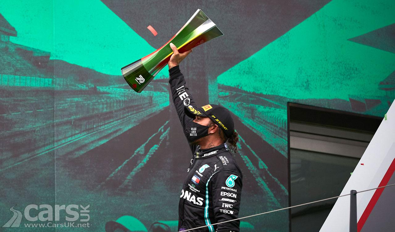Photo Lewis Hamilton celebrates Portuguese Grand Prix win