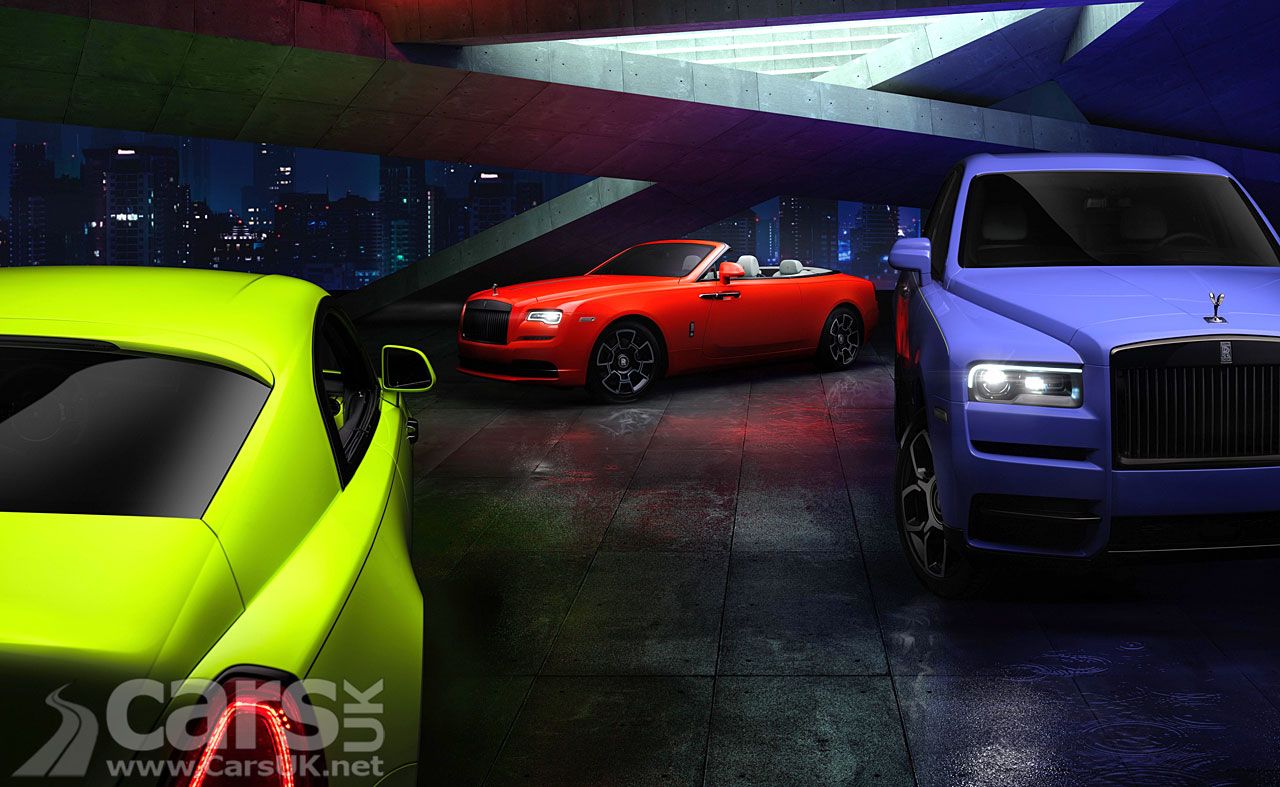 Photo Rolls-Royce Dawn, Wraith and Cullinan Black Badge 'Neon Nights'