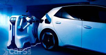 Photo Volkswagen's mobile charging robot for EVs