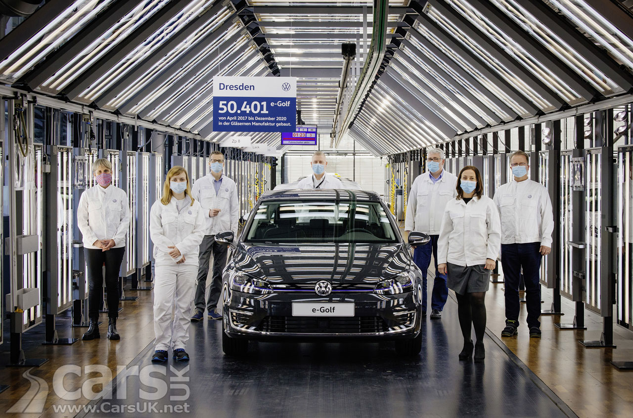 Photo Electric Volkswagen E-Golf Production ends