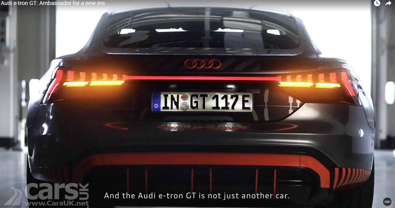 Photo Electric Audi e-tron GT teaser