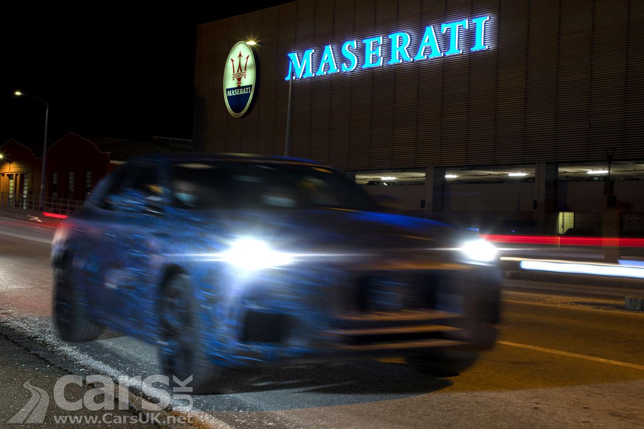 New Maserati Grecale SUV teased front